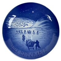 """B&G BING & GRONDAHL 1972 Christmas Plate """"Christmas in Greenland"""" Signed"""