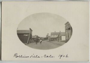 1906 Rollinsville Colorado Street Scene Real Photo Postcard RPPC