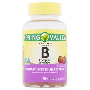 Spring Valley Vitamin B Complex Supplement Adult Vegetarian Gummies, 70 count+