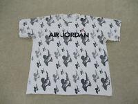 Jordan Shirt Adult 2XL XXL White Gray Jumpman Basketball Athletic Mens 90s A26 *