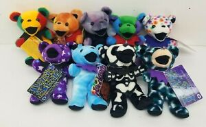1998 Liquid Blue GRATEFUL DEAD Bean Bears Near COMPLETE EDITION 2 SET 9/10 NWT