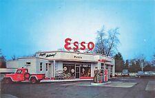 "Westwood NJ ""Pete's Esso Corner"" Gas Station Tucks Cars Postcard"