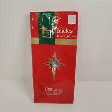 "Brite Star Silver Christmas Tree Tinsel Icicles 1000 Strands Usa Made 18"" Vtg"