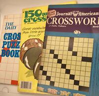 Vintage Crossword Puzzle Books Completely UNUSED