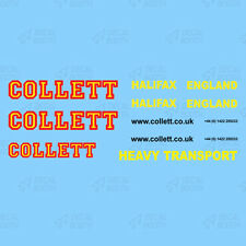 Collet Heavy Haulage Decal Set 1:50 Scale (Licensed)