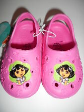Nickelodeon Toddler Girls Dora The Explorer Clogs Shoes Pink Size S 5-6 NWT