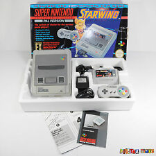 Super Nintendo Starwing Boxed Console Bundle - VERY GOOD CONDITION - SNES PAL