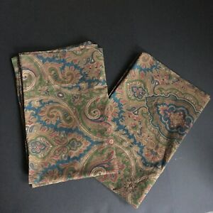 Ralph Lauren Brianna Paisley Standard Pillowcase Set Two Brown Churchill