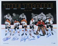 Chicago Blackhawks Boston Bruins Autographed Signed 16x20 Color Photo - 6 Sigs