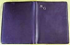 Ancienne liseuse Initial MG. 29 cm x 22 cm