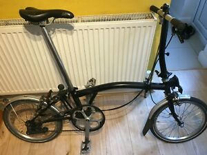 Brompton S2L 2015, Black, very good condition. Global shipping.