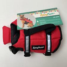 Zippy Paws Dog Life Jacket Sz XXS 6-10 ins Flotation Device Reflective Trim NWT