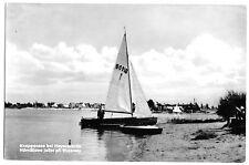 AK, Hoyerswerda, Knappensee bei Hoyerswerda, Segelboot, 1959