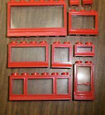 Lego alte rote Fenster Türen 60 er Jahre großes Sortiment 10 Stück