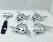Set of 4 Knock Offs 3 Bar 3 Way Swept Cutout Spinner Lead Hammer Wire Wheels