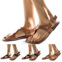 Ladies Women Summer Soft Gladiator Sandals Casual Flat Sandals Beach Shoes Size