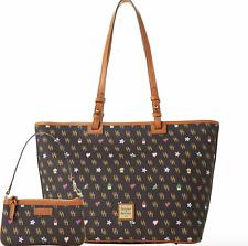 NWT DOONEY & BOURKE GRETTA NOVELTY LEISURE SHOPPER TOTE SLIM WRISTLET BAG $338