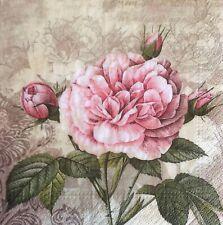 paper napkins decoupage x 2 flowers  33cm