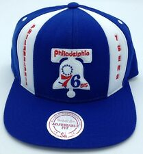 NBA Philadelphia 76ers Mitchell and Ness Retro Adult Adjustable Cap M&N NEW!