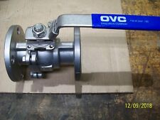 """NEW OVC 2"""" 150 CF8M BALL VALVE STAINLESS STEEL TFM1600 FLANGE"""