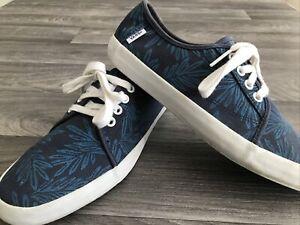 Vans Costa Mesa (Aloha Leaf)rare Blue Mens Trainer Sneaker 7/40.5 Casual Pumps