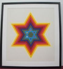 "Yaacov Agam ""Star Of David"" Original Serigraph S/N Framed"