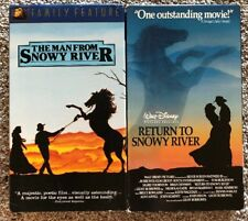 The Man From Snowy River & Return to Snowy River - Disney Lot of 2 VHS Movies