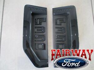 17 thru 21 Super Duty F-350 Lariat Sport Package Black Fender Emblems Pair of 2