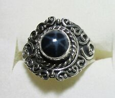 Star Sapphire Artisan Designed Ring, 925 Sterling Silver sz 6.5 -- 2.41cts, 4.2g