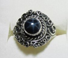 Star Sapphire Artisan Ring / sz 7.25 / 925 Sterling Silver, 2.41cts, 4.1g
