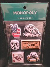 MONOPOLY Puffy STICKERS Great for Crafting Scrapbooking By Junk Food 3 Sheets
