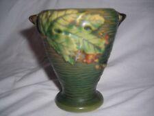 roseville vase, green