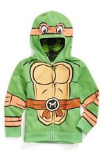 Ninja Turtle Boy's Full Zip Fleece Hoodie 6 Green Jem Sportswear