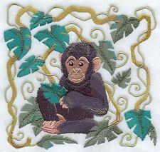 Embroidered Fleece Jacket - Art Nouveau Chimpanzee C9538 Sizes S - Xxl