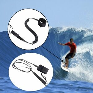 6-11FT Surfboard Leash Stand Up Paddle Board Leash Coiled Straight Cord Leg Rope
