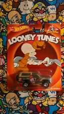 Hot Wheels Looney Tunes Real Riders '85 Ford Bronco (Olive Green) Elmer Fudd New