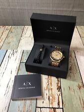 A|X Armani Exchange Maddox Gold-Tone Stainless Steel Bracelet Watch ax7109