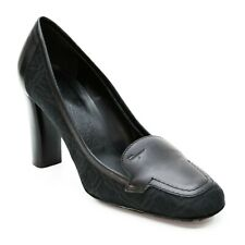 Salvatore Ferragamo Ladies 7 C (Wide) Black Loafers High Heels Italian