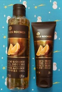 Yves Rocher Cocoa Orange Shower Gel & Hand Cream Limited Holiday Edition 2017