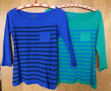 atmosphere – 2 x T Shirt lila/grün Größe 36