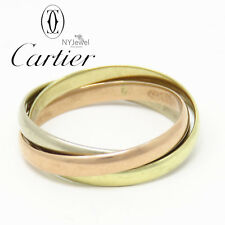 NYJEWEL Cartier 14K Yellow White Roase Gold Classic Tricolor Band Ring size 6.75