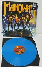 Manowar Fighting The World Blue Vinyl LP Record new 2019 reissue