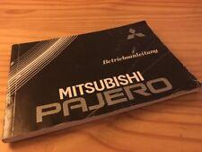 Mitsubishi Pajero manuel conducteur livret de bord utilisateur édition 86