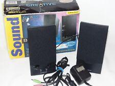 Creative Sound Blaster SBS270 Computer Speakers Black Headphone Microphone Jack