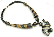 Tribal Halskette Banjara Tibetische Indien Handgemacht Ethnisch Harz Hörner Bone