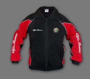 Mans Alfa Romeo Fleece Jacket Sport Embroidered Polar, Fan Merchandise S-3XL
