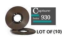 """LOT OF(10) CAPTURE SERIES 930 TAPE REEL TO REEL 1/4"""" X3600' 10.5"""" HUB ECOPACK"""
