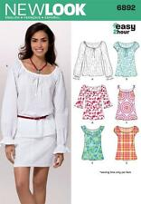 NEW LOOK SEWING PATTERN MISSES' EASY 2 HOUR TOP TOPS  SIZE 6 - 16  6892