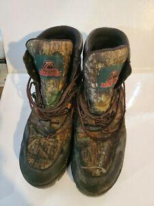 Brahma Men's Green Camo Gobbler Hunter Hiker Waterproof Boots Size 12 Mossy Oak