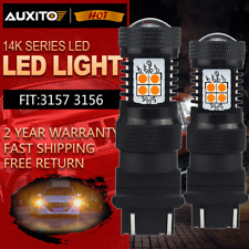 2Pcs 3157A 3156 Bright Yellow Amber Car LED Turn Signal Parking Light Bulb Lamp